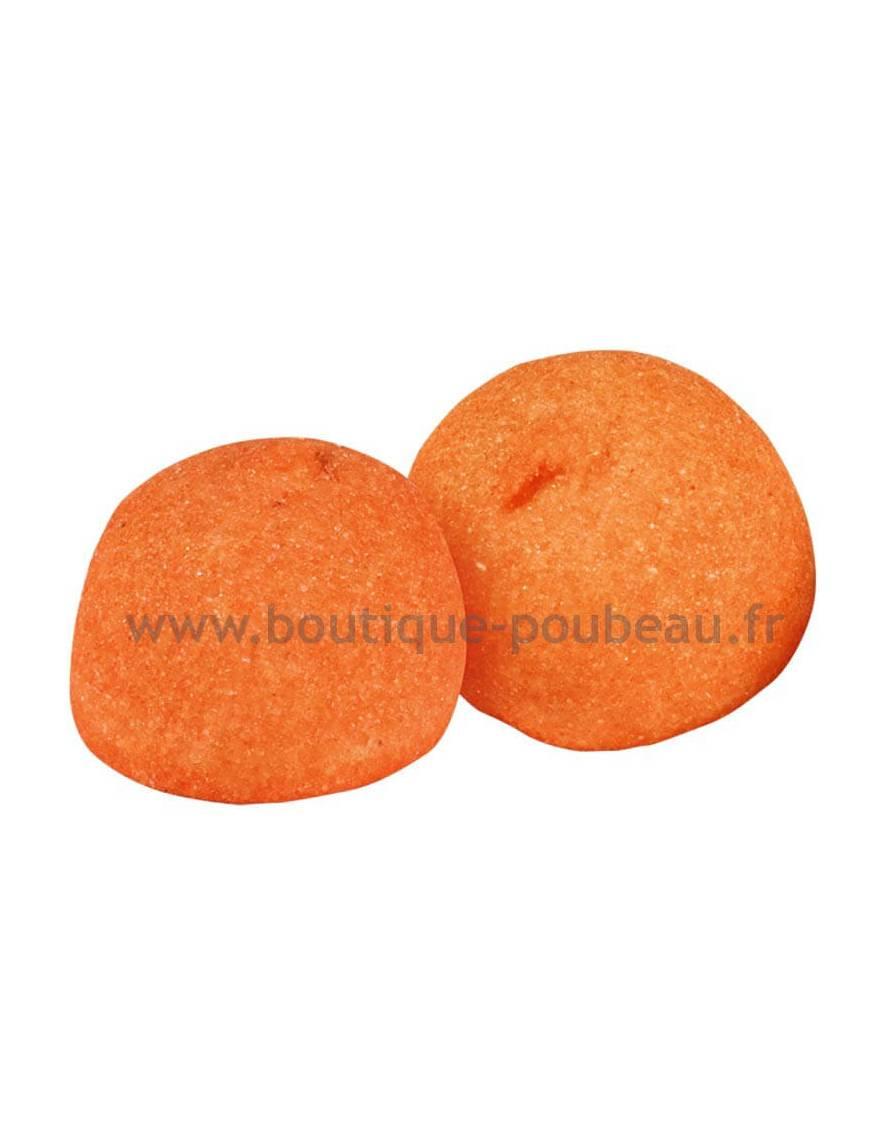 Balle de golf orange - goût pêche sachet vrac de 900 gr