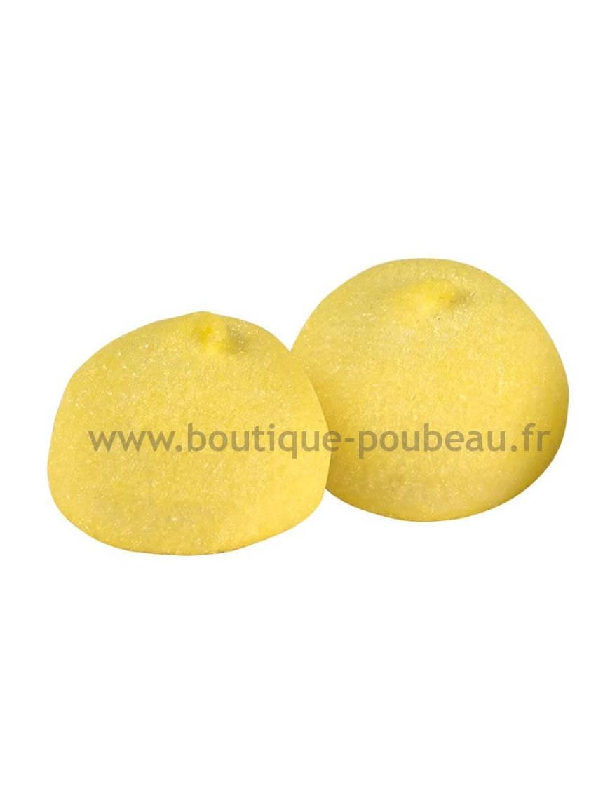 Balle de golf jaune - goût banane sachet vrac de 900 grammes
