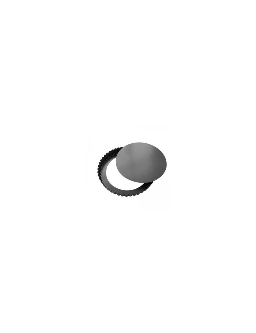Moule à tarte cannelé /Tourtière à bord droit - Fond amovible
