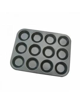 Plaque à 12 Tartelettes rondes individuelles antiadhésive