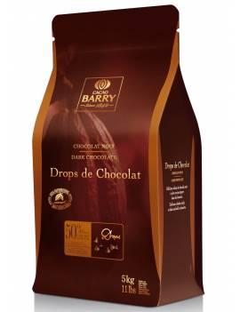 Chocolat noir Drops de Chocolat 50% Cacao Barry 5 KG