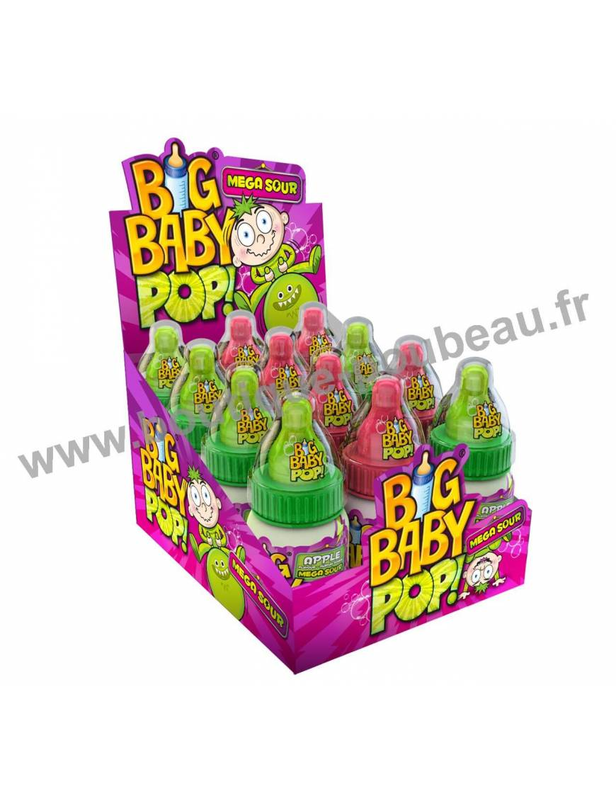 Big Baby Pop Mega Sour 12 piéces