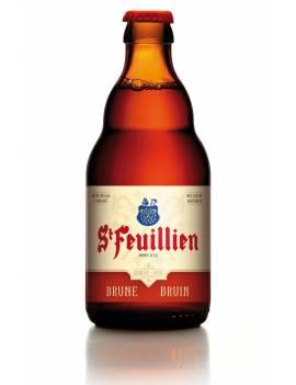 aint feuillien brune biere belge oise