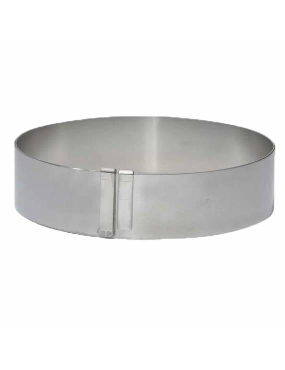 Cercle à pâtisserie extensible en inox ressort - Grande taille