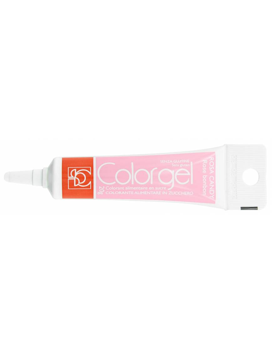 Tube Colorant Gel Rose bonbon 20g - Modecor