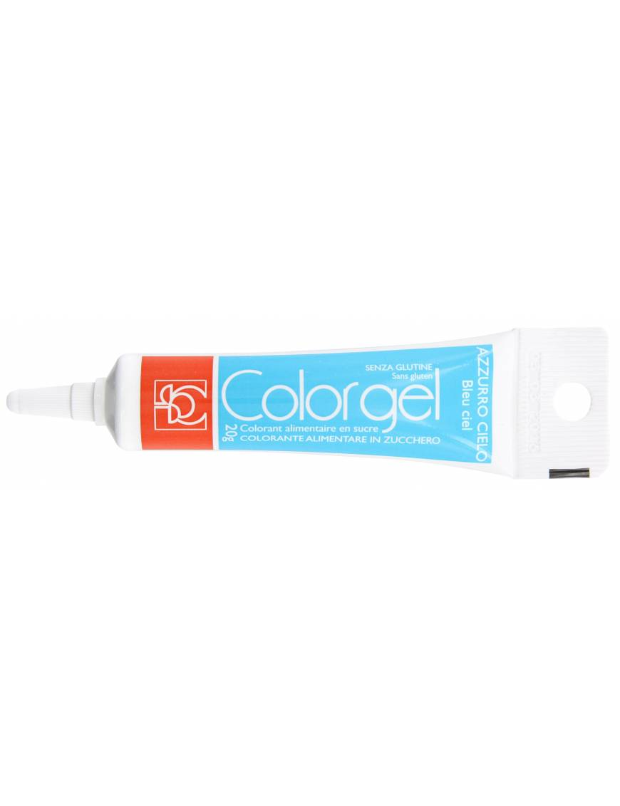 Tube Colorant Gel bleu ciel