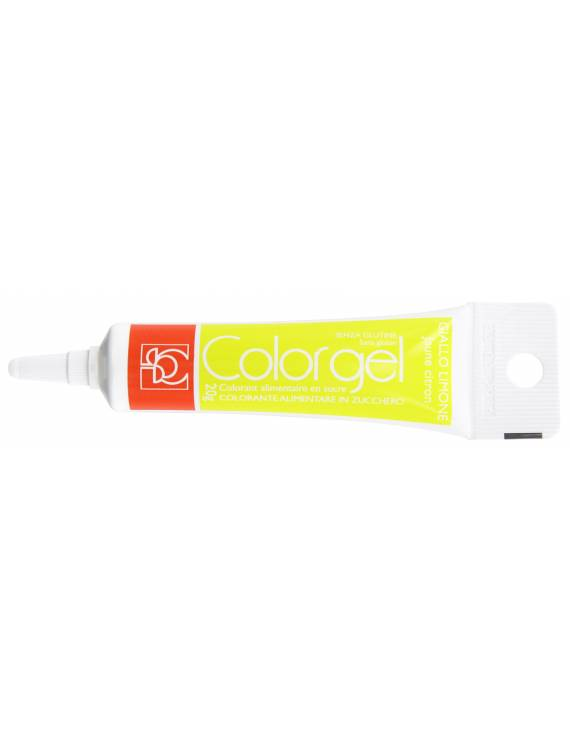 Tube Colorant Gel Jaune Citron 20g - Modecor