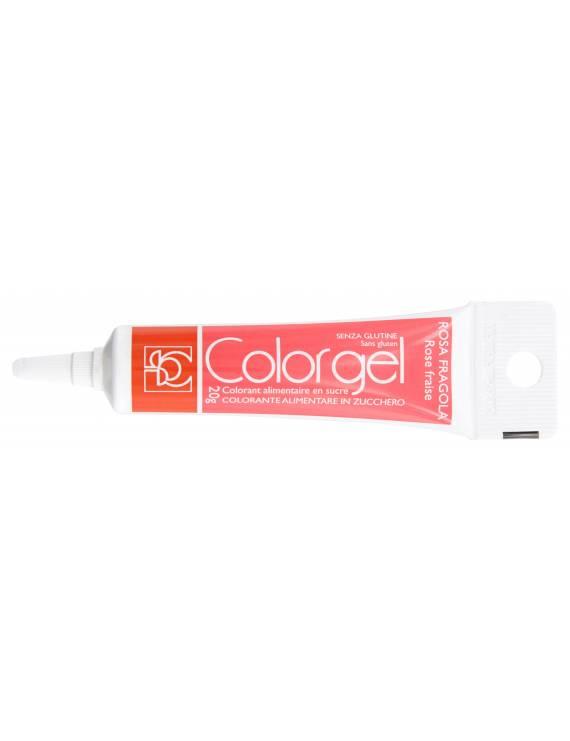 Tube Colorant Gel Rose Fraise