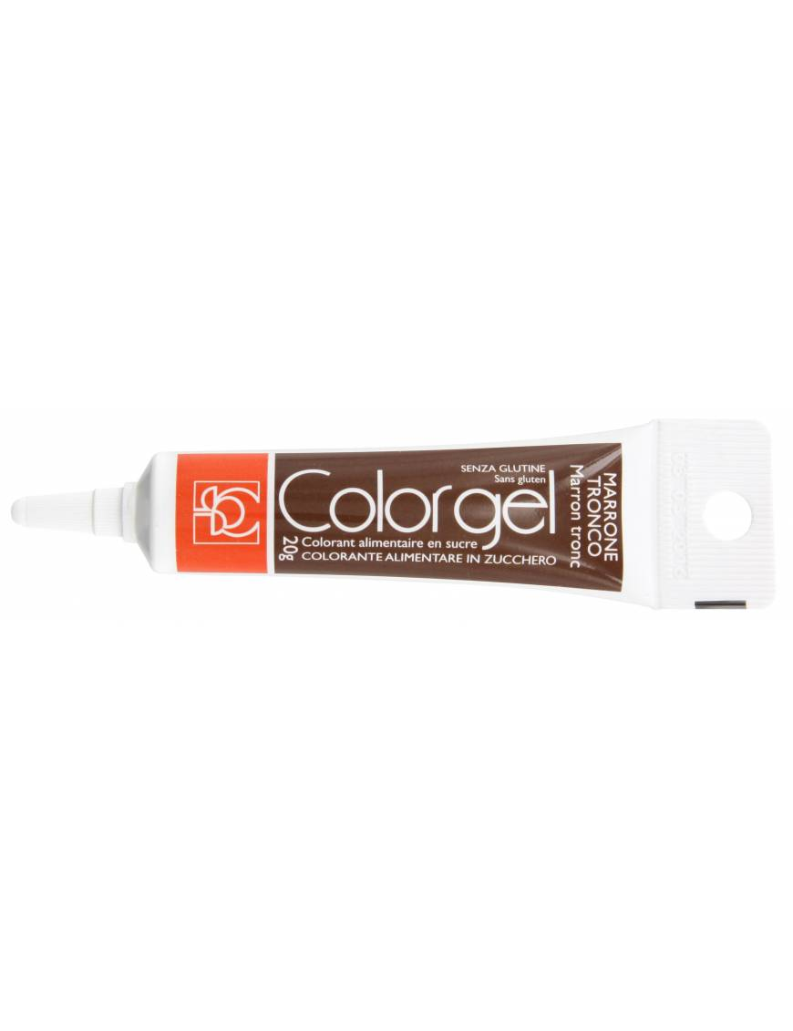 Tube Colorant Gel Marron Tronc 20g - Modecor