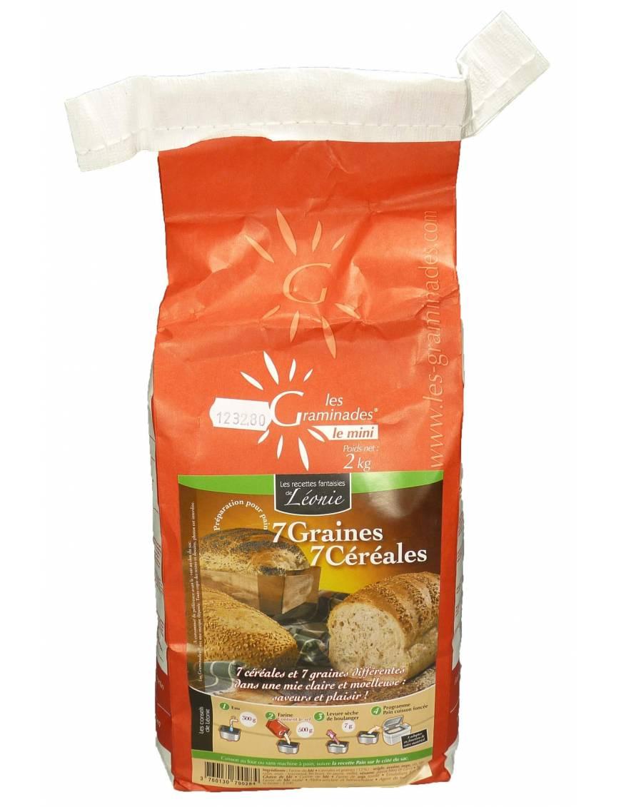 Les Graminades - 7 graines / 7 céréales (sac 2Kg)
