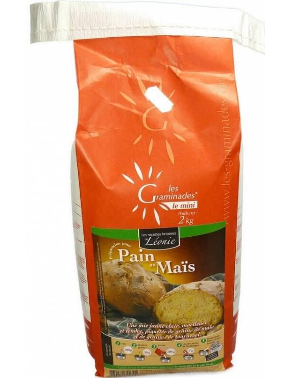 Les Graminades - Pain maïs (sac 2Kg)