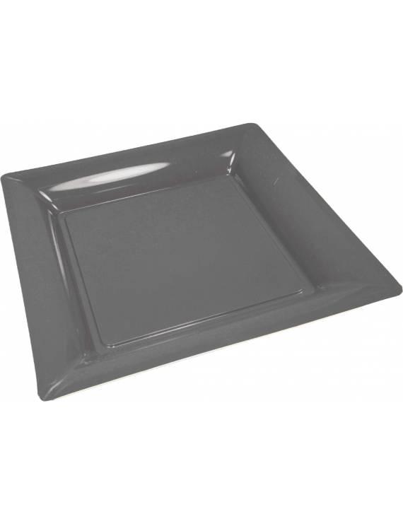 Assiette carrée 21,5cm x12 ardoise