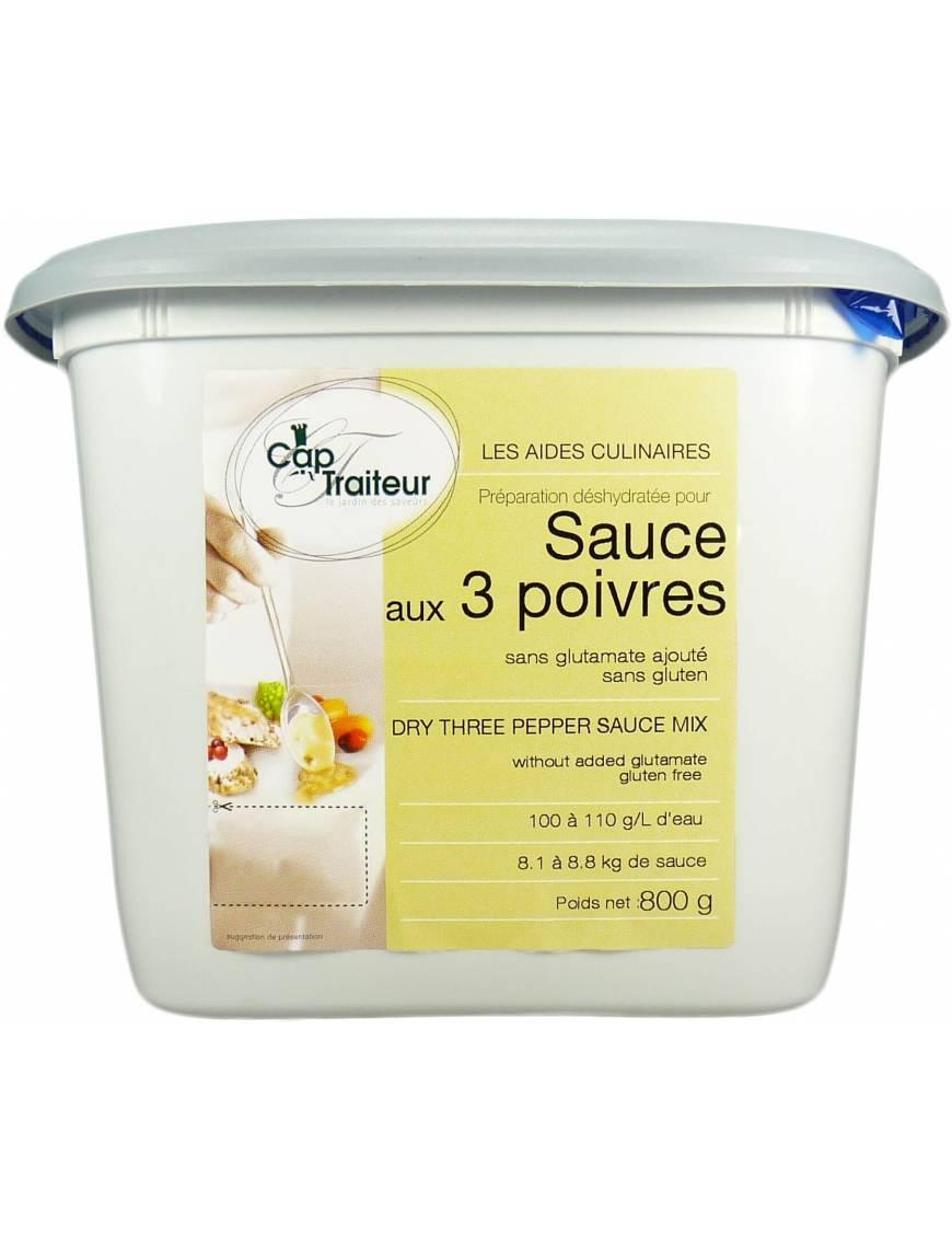 Sauce aux 3 poivres déshydratée - 1kg