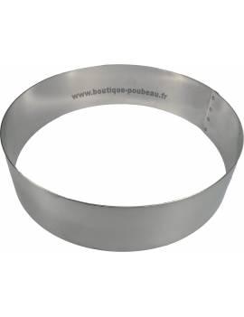 Cercle inox rond à vacherin 6 cm hauteur Mallard Ferrière