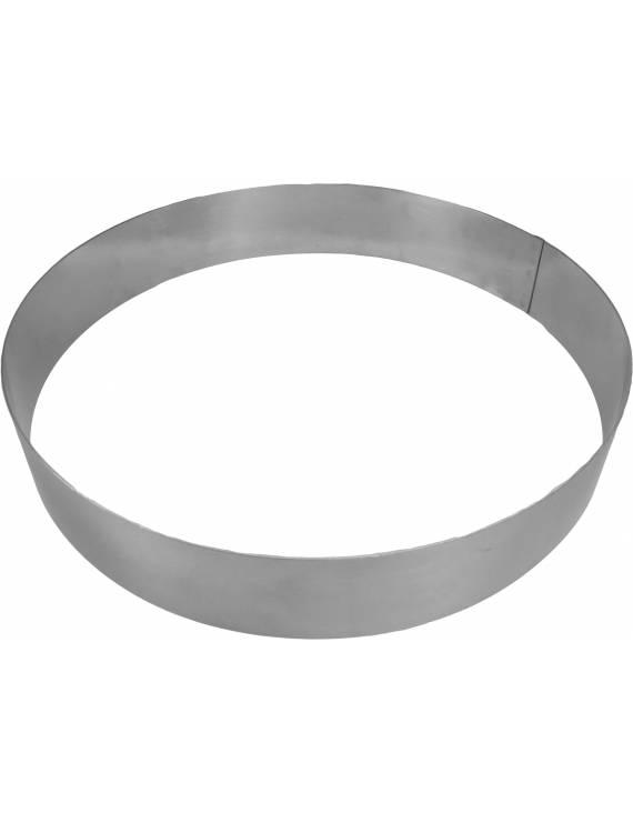 Cercle inox rond à pâtisserie 4,5 cm hauteur De Buyer