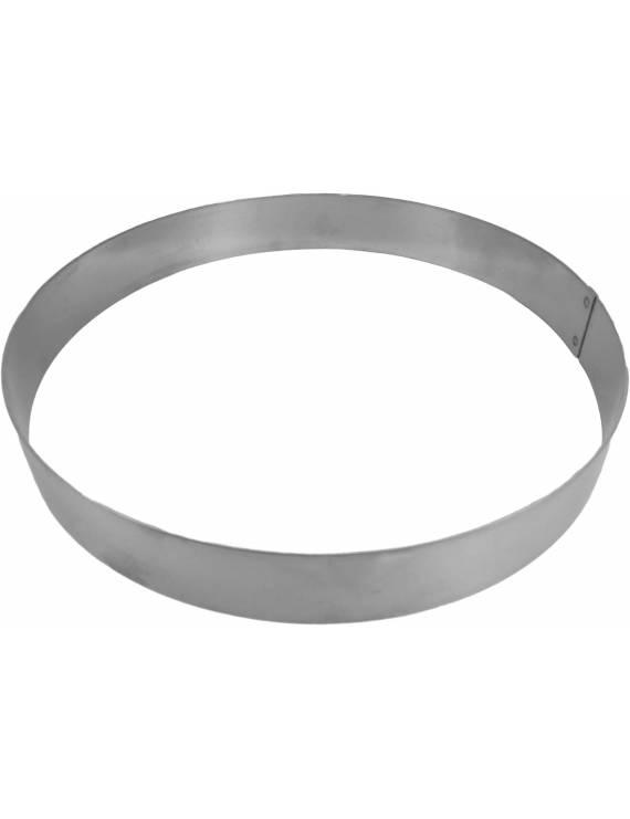 Cercle inox rond à entremet 3,5 cm hauteur Mallard Ferrière