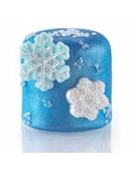 Lot de 2 découpoirs poussoirs 3D Flocon de neige