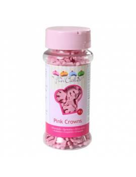 Confettis en sucre Couronne rose Boite 45 g