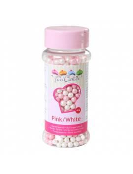 Perle de sucre nacrée Rose et Blanche Boite de 60g