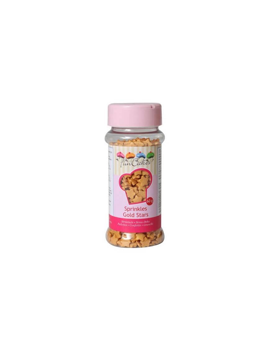 Confettis en sucre Etoile or Boite 60 g