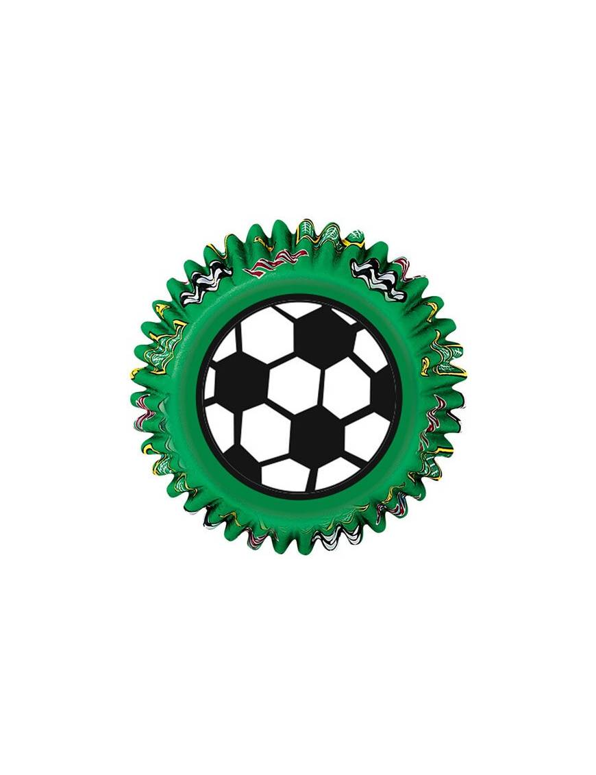 """Caissette Cupcakes en papier """"Football"""" x50"""