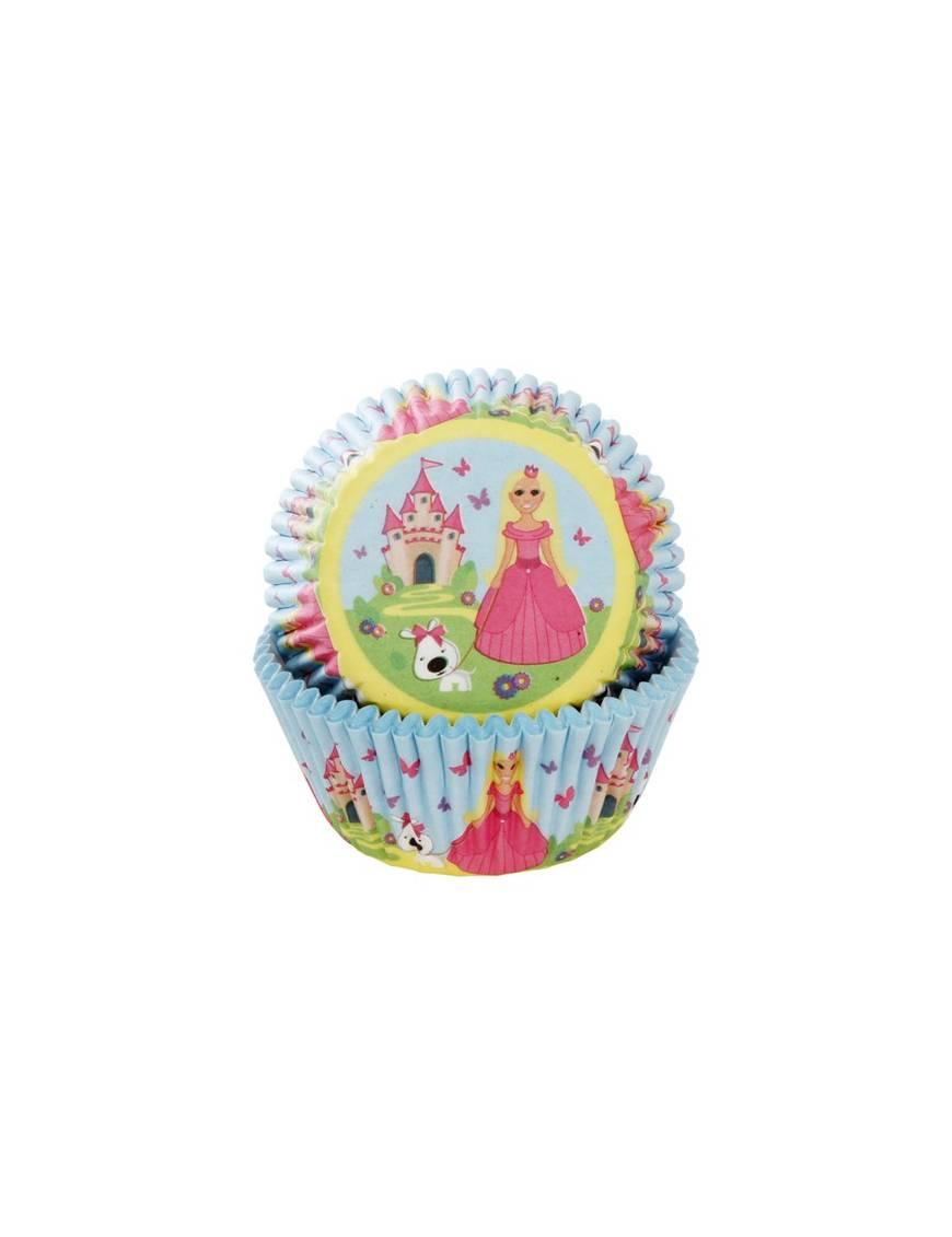"""Caissettes Cupcakes """"Princesse"""" x50"""