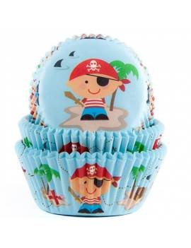 "Caissettes Cupcakes ""Pirate"" x50"