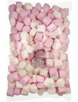 Marshmallow Rose et Blanc Vrac 1kg