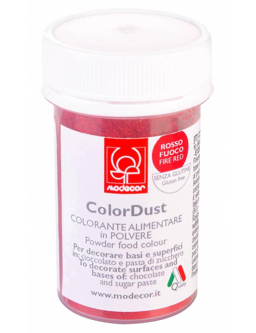 Colorant alimentaire en poudre rouge feu 3g