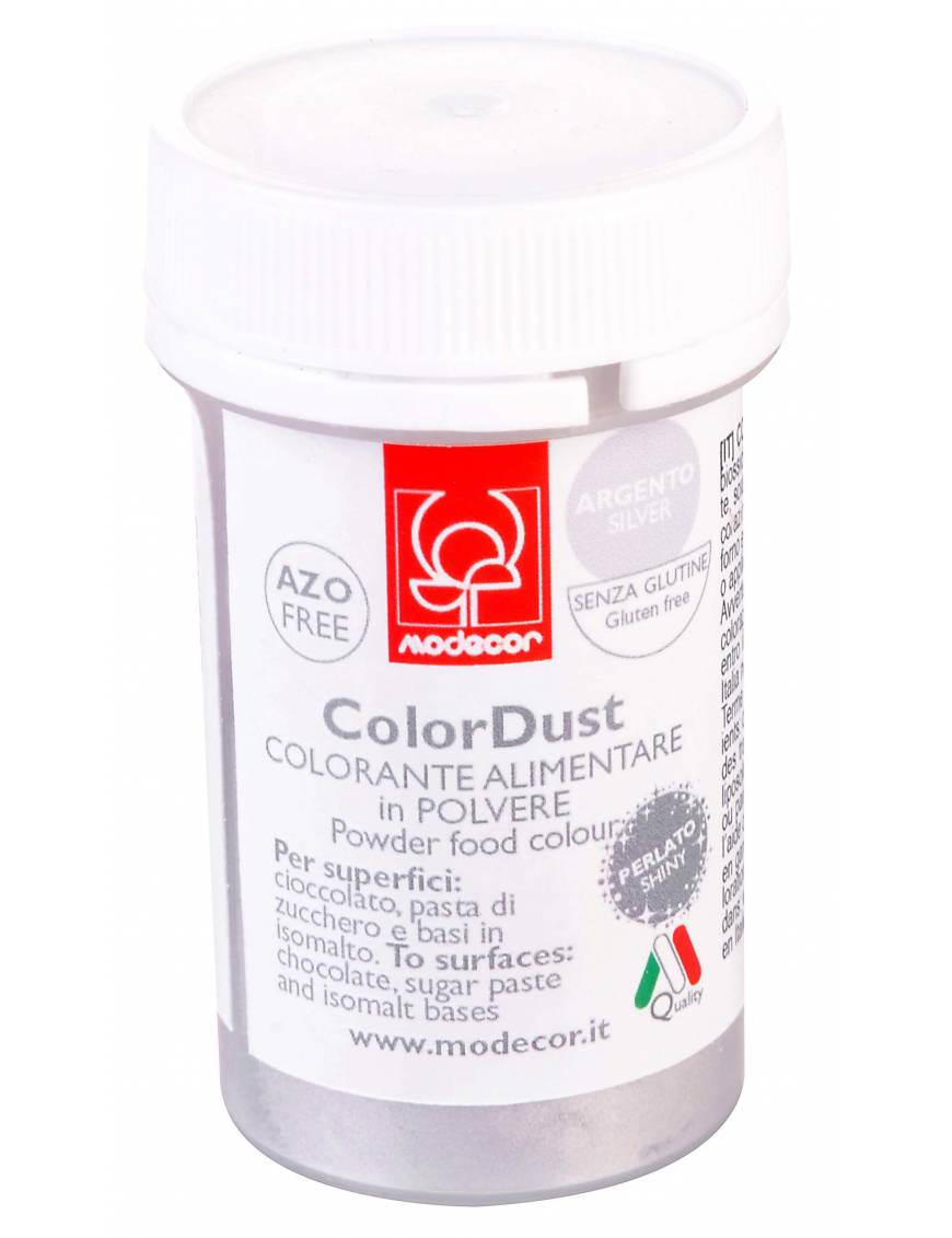 Colorant alimentaire poudre Perle 3g Argent