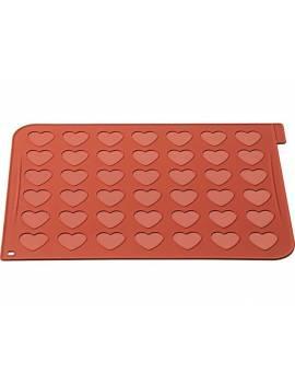 Tapis silicone spécial macarons en coeur