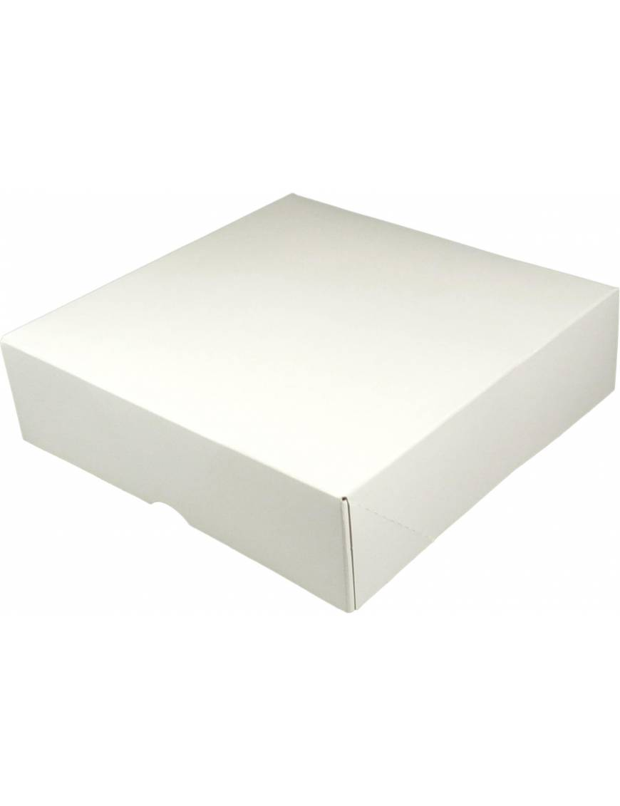 Boite patissière blanche 5cm de hauteur x50