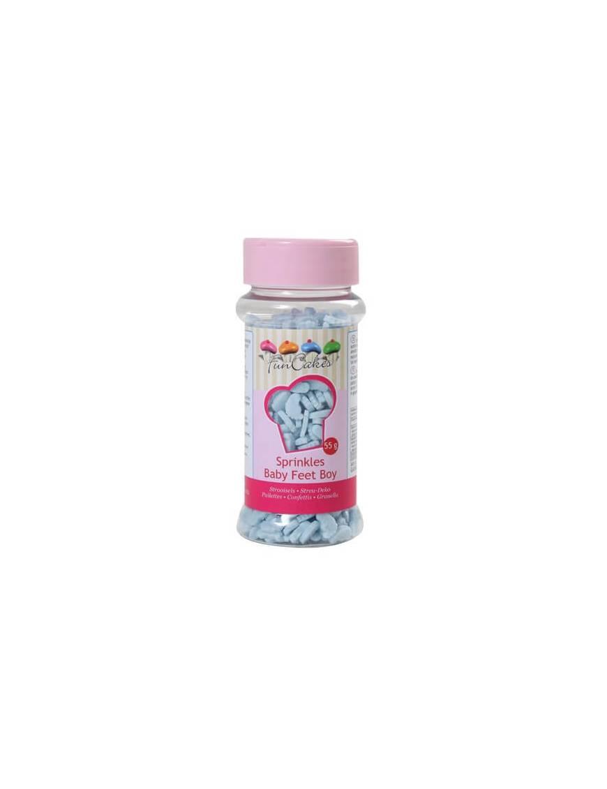 Confettis en sucre Pied bleu Boite 55 g