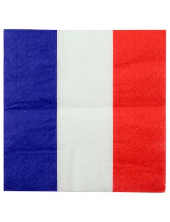 Serviette en papier Drapeau français x20