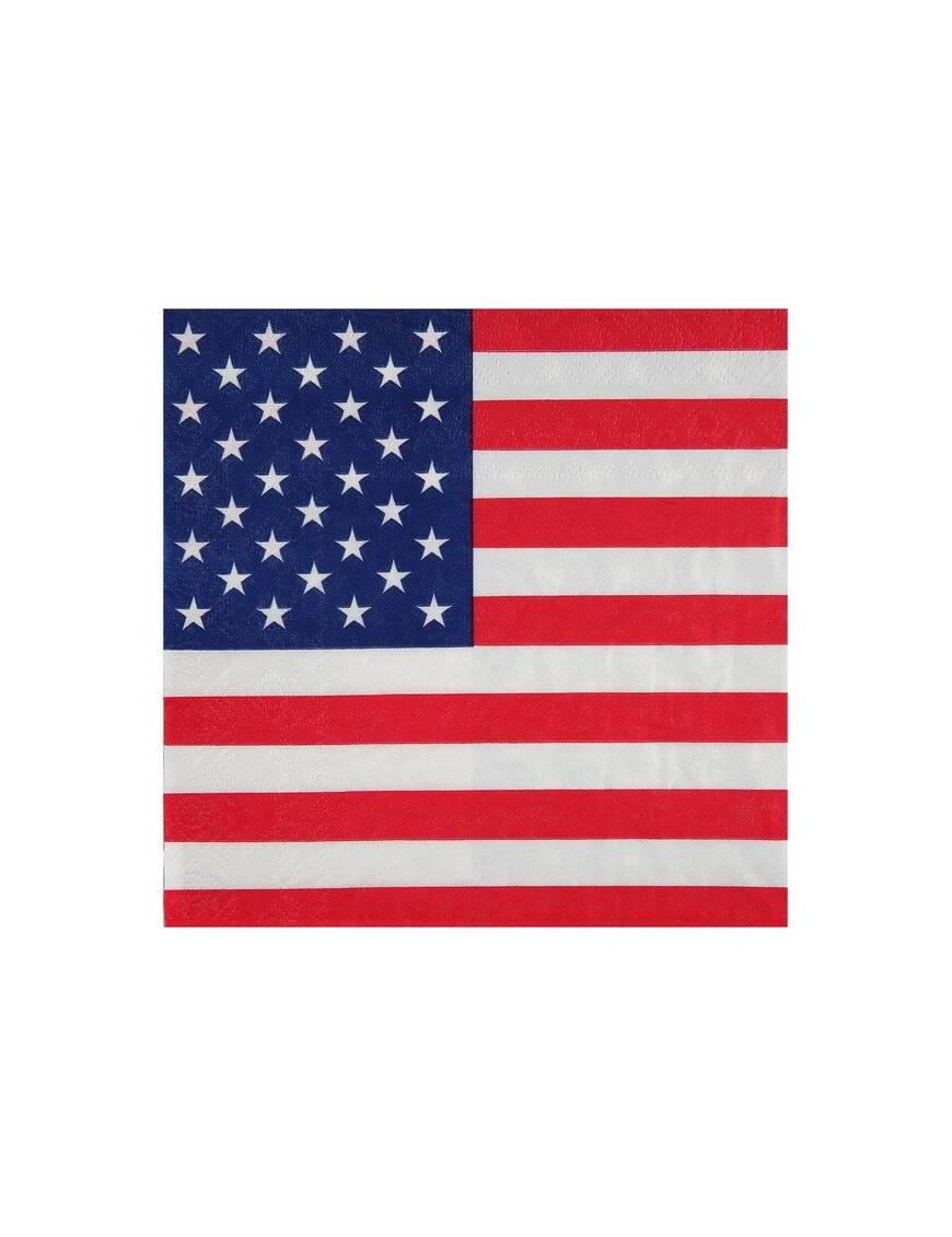 Serviette en papier Drapeau Américain x20