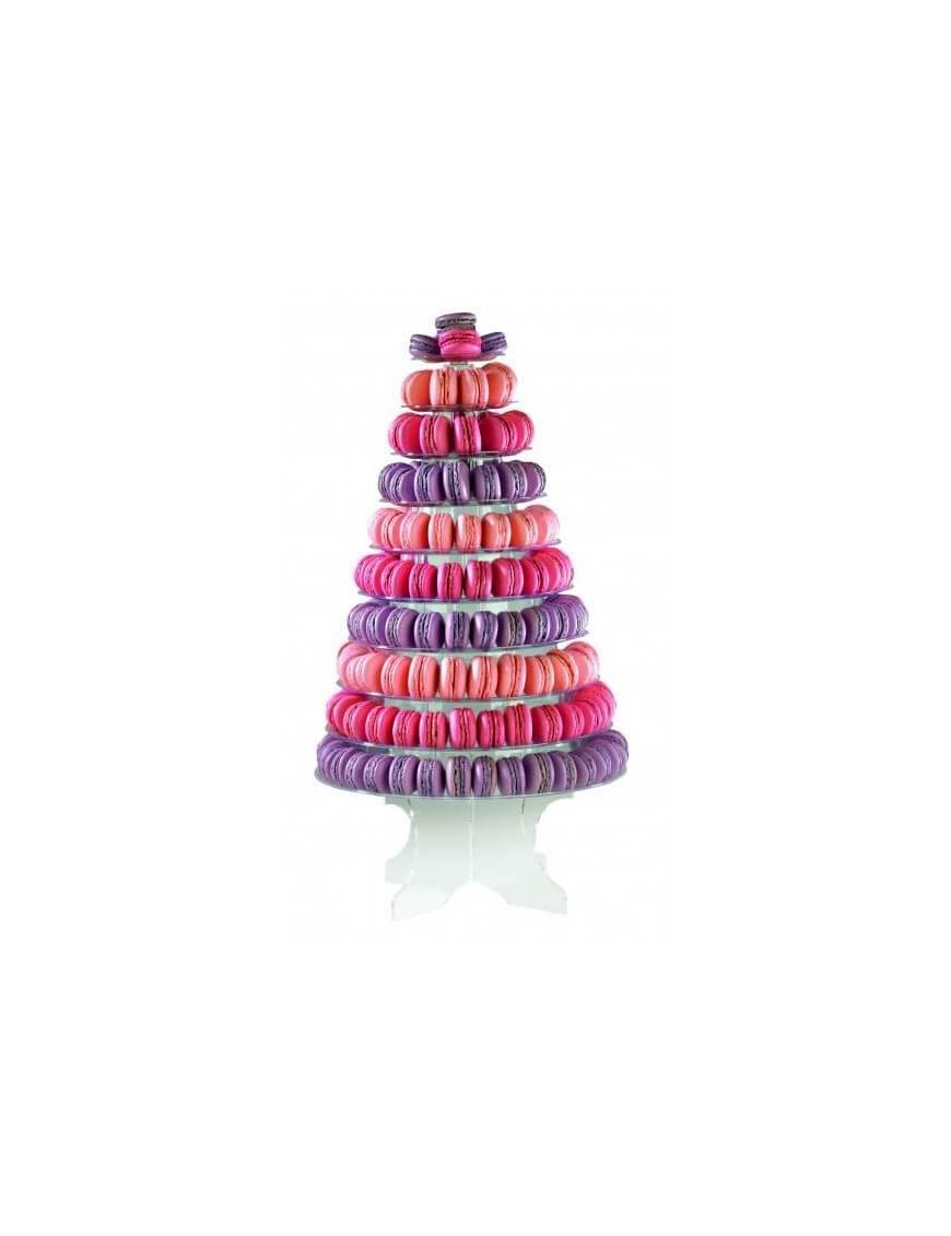 Pyramide à macarons transparente