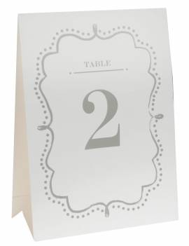 Marque table kraft 1 à 10