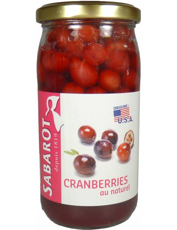 Cranberries au naturel en bocal 125g