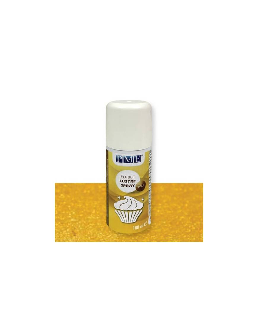 Vernis alimentaire brillant argent en spray 100mL