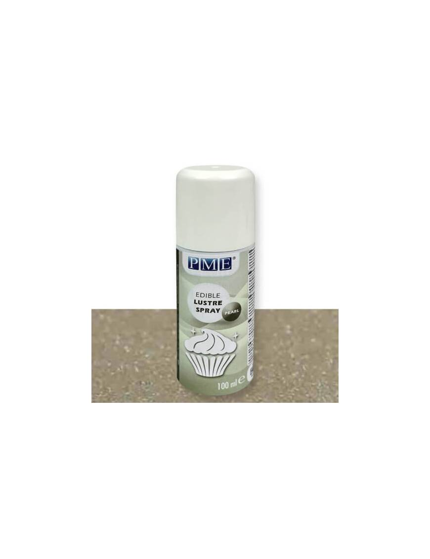 Vernis alimentaire brillant or en spray 100mL