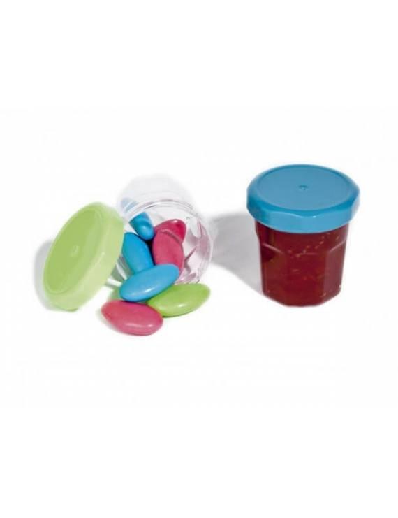 Couvercle mini pot de confiture de couleur x20
