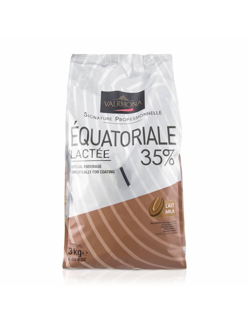 Equatoriale Noire 55% 3kg - Chocolat noir de couverture Valrhona