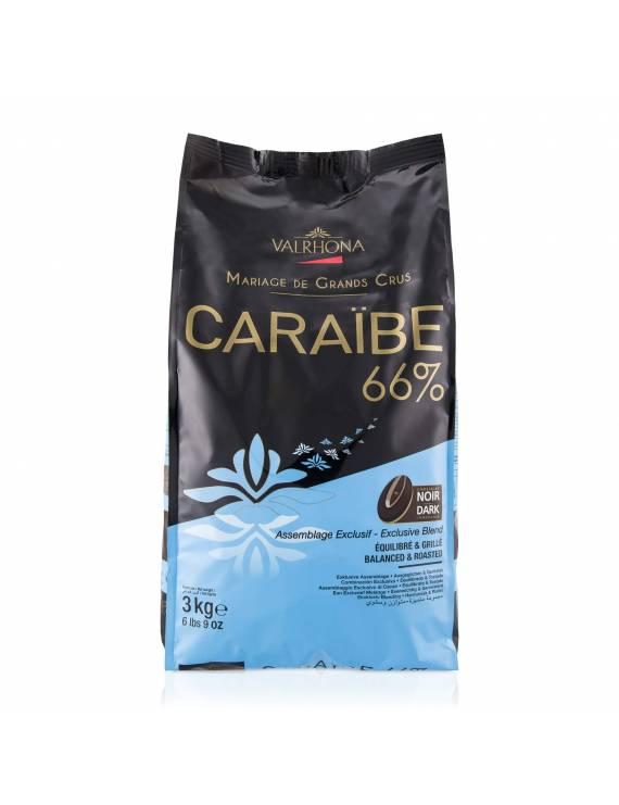 Caraïbe 66 % 1kg - Chocolat noir de couverture Valrhona