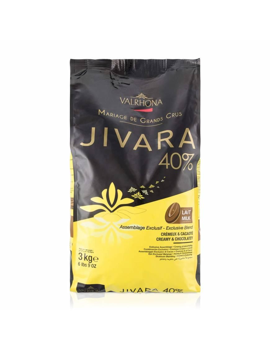 Jivara 40 % 3kg - Chocolat lait de couverture Valrhona