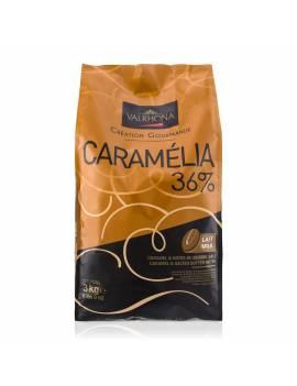 Caramélia 36 % 3 kg - Chocolat lait / caramel de couverture Valrhona