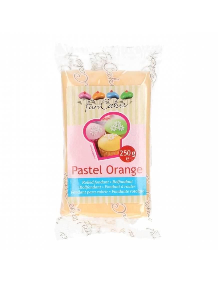 Pâte à Sucre Orange Pâle FunCakes 250 gr