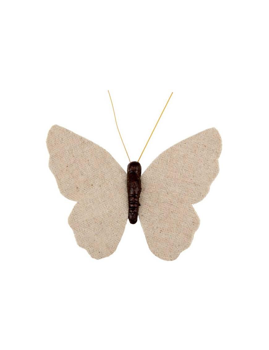 Papillon dentelle sur pince Noir x6