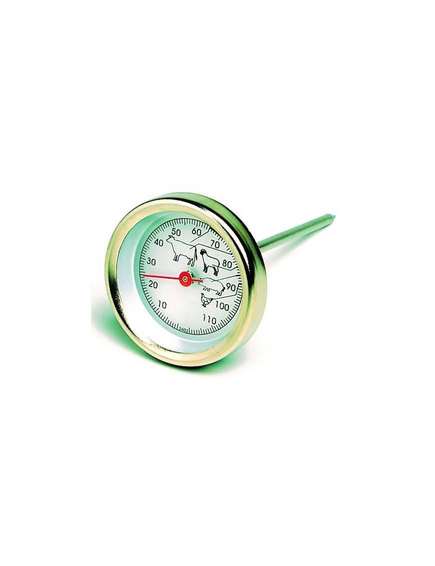 Thermomètre cuisson à viande avec cadran et sonde 0 a 120°C