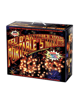 Feu d'artifice portable Total 5mn