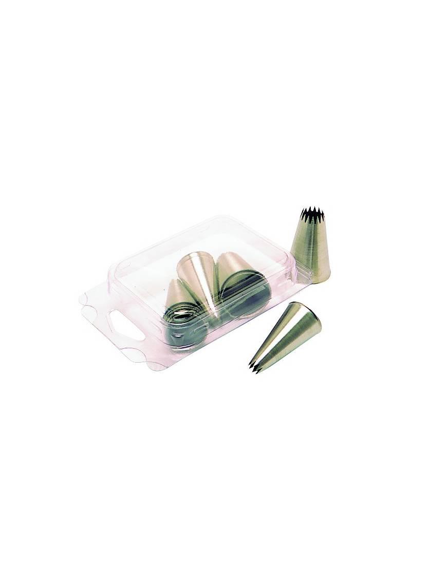 Lot de 6 douilles métal unies diamètre de 2 à 14mm